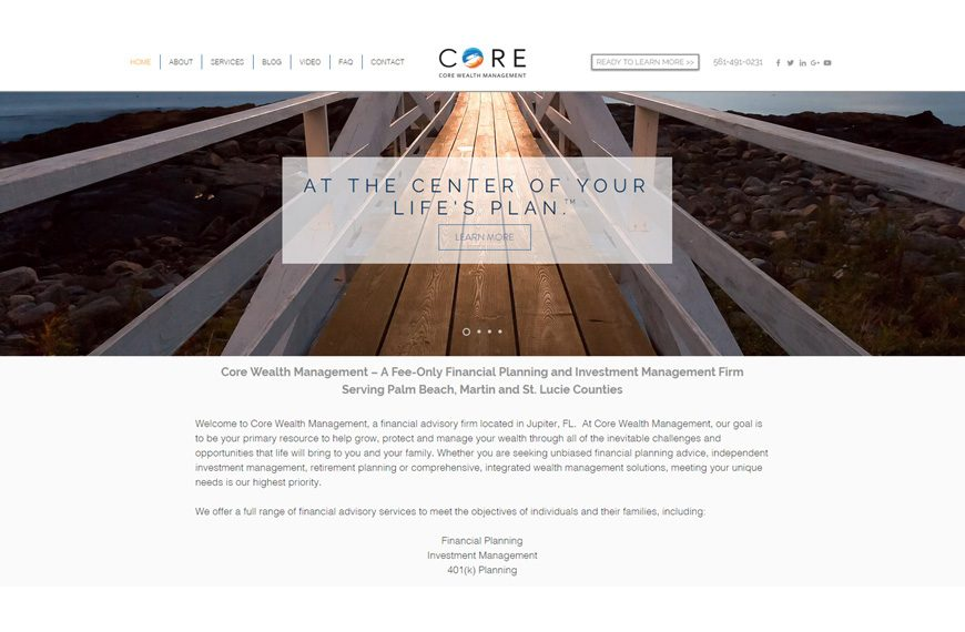 Marketing website project sample